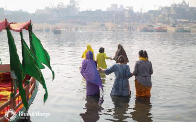 Deities Join Second Snan in Yamuna